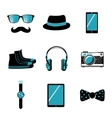 Hipster items collection vector image vector image