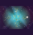 icon elements air earth fire water and merkaba vector image vector image