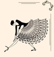 image of ballet girl vector image vector image