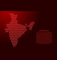 india map abstract schematic from red tree happy vector image