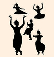 indian dancer silhouette 01 vector image vector image