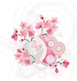 Japanese cherry blossom for your design vector image vector image