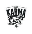 keep karma vector image