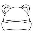kid winter headwear icon outline style vector image