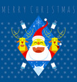 merry christmas symbol vector image vector image