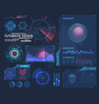 molecule hologram and futuristic hud elements vector image