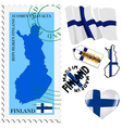 national colours of Finland vector image vector image