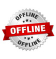 offline round isolated silver badge vector image vector image