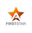Orange star logo with letter a with first star