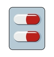 Pills cartoon icon isolated on white background vector image vector image