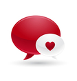 Red and White Message of Love Icon vector image vector image