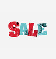 sale concept stamped word art vector image vector image
