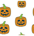 seamless halloween pattern with pumpkins vector image vector image
