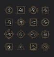 set luxury sign vector image vector image