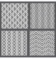 Set of 4 monochrome elegant seamless patterns vector image vector image