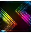 Shining neon arrows abstract background vector image vector image
