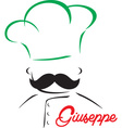 Stylised chef design vector image