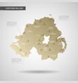 stylized northern ireland map vector image