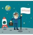Successful businessman gets the moon vector image