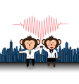 Successful team of doctor monkey giveing high five vector image