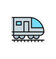train subway locomotive railroad flat color vector image