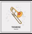 trombone isolated icon vector image vector image