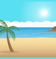 tropical island in ocean with palm trees vector image