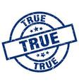 true blue round grunge stamp vector image vector image