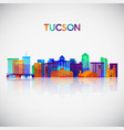 tucson skyline silhouette in colorful geometric vector image vector image