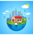 Urban home earth concept vector image vector image