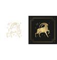 zodiac capricorn horoscope sign line art vector image