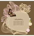 Scrapbook design invitation template with flowers vector image