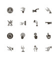 buttons - flat icons vector image