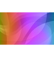 abstract rainbow gradient wavy background vector image