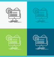 account profile report edit update icon over vector image vector image