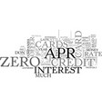 Apr credit cards make it possible to save money