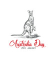 australia day on 26 january vector image