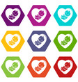 baby icons set 9 vector image vector image