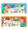 back to school 2 banners vector image vector image