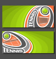 banners for tennis vector image vector image