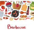 barbecue or grill cooking with place for text vector image vector image