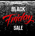 black friday sale background with shining vector image