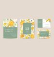 boho wedding invitation card vintage save vector image vector image