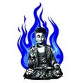 buddha line drawing sketch a sitting or vector image vector image