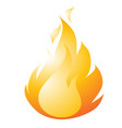burning fire drawing in a flat style isolated on a vector image vector image