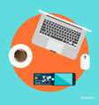 Business concept Online shopping Top view of vector image vector image