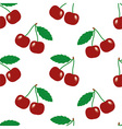 Cherry seamless texture vector image vector image