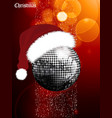 christmas festive glowing background with disco vector image vector image