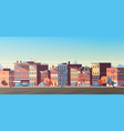 city building houses view skyline background real vector image vector image