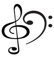clef musical symbols vector image
